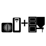 Ogrzewanie kocioł na pellet/ekogroszek + pompa ciepła Split