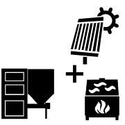 Ogrzewanie kocioł na pellet/ekogroszek + solar + kominek UO