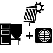 Ogrzewanie kocioł na pellet/ekogroszek + solar + pompa Monoblock