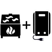 Ogrzewanie kocioł elektryczny + kominek UO