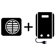 Ogrzewanie kocioł elektryczny + pompa Monoblok