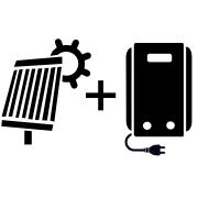 Ogrzewanie kocioł elektryczny + solar