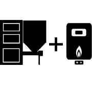 Ogrzewanie kocioł gazowy + kocioł na pellet/groszek