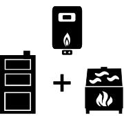Ogrzewanie kocioł gazowy + kocioł węglowy UO + kominek UO