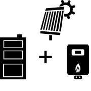 Ogrzewanie kocioł gazowy + kocioł węglowy UO + solar