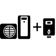 Ogrzewanie pompa ciepła Split + kocioł gazowy