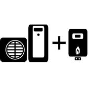 Ogrzewanie kocioł gazowy + pompa ciepła Split