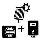 Ogrzewanie kocioł gazowy + pompa Monoblok + solar