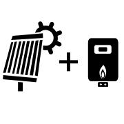 Ogrzewanie kocioł gazowy + solar