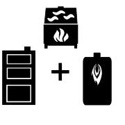 Ogrzewanie kocioł olejowy + kocioł węglowy UO + kominek UO
