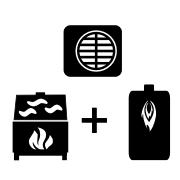 Ogrzewanie kocioł olejowy + pompa Monoblok + kominek UO