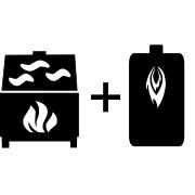 Ogrzewanie kominek UZ + kocioł olejowy