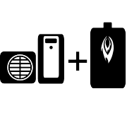 Ogrzewanie pompa ciepła Split + kocioł olejowy