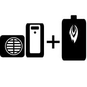 Ogrzewanie kotłem olejowym + pompa ciepła Split