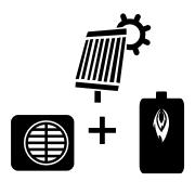 Ogrzewanie kocioł olejowy + pompa Monoblok + solar
