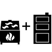 Ogrzewanie kominek UO+kocioł węglowy UO