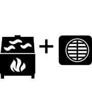 Ogrzewanie kominek UO + pompa Monoblok