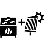 Ogrzewanie kominek UO+solar
