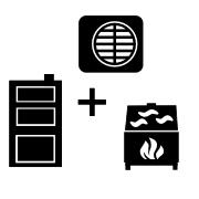 Ogrzewanie kocioł węglowy UZ + pompa Monoblok + kominek UZ