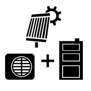 Ogrzewanie kocioł węglowy UZ + pompa Monoblok + solar