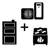 Ogrzewanie pompa ciepła Split + kocioł węglowy UO + kominek UO