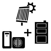Ogrzewanie pompa ciepła Split + kocioł węglowy UO + solar