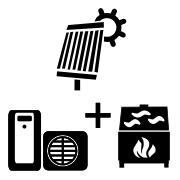 Ogrzewanie pompa ciepła Split + solar + kominek UO